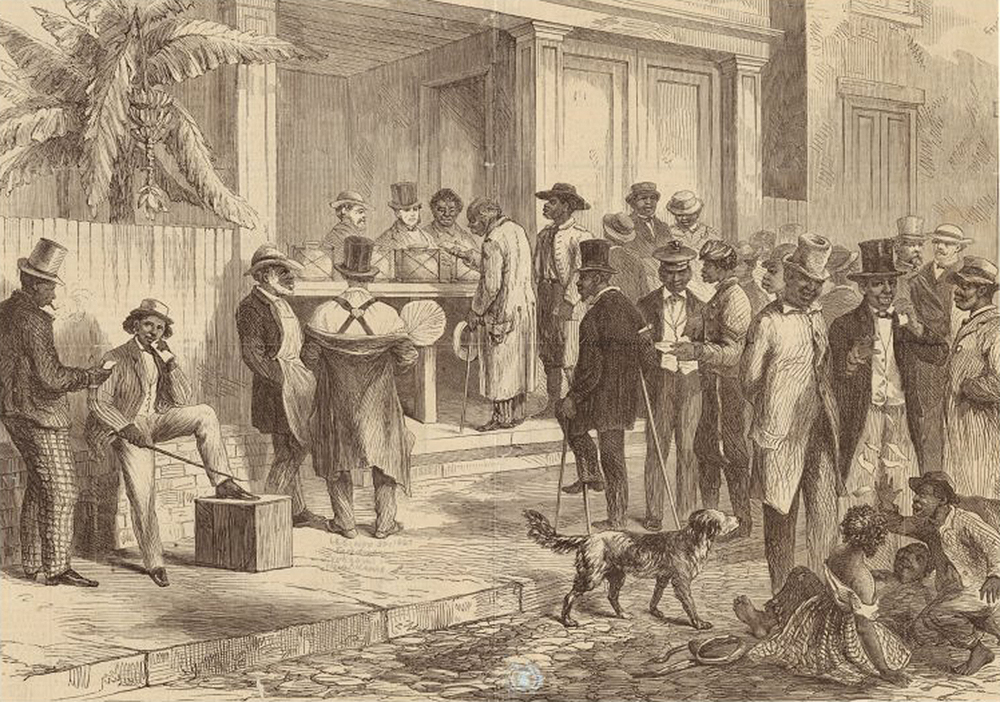 Freedmen Voting in New Orleans, 1867. The New York Public Library, The Miriam and Ira D. Wallach Division of Art, Prints and Photographs.