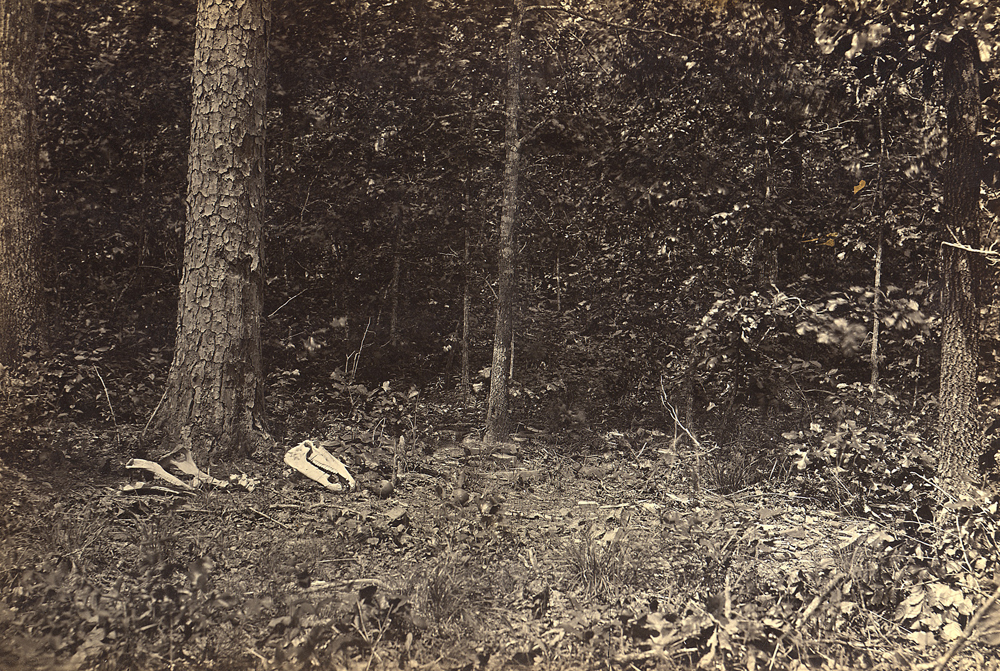 Scene of General James McPherson's death, photographed by George N. Barnard, c. 1862-5. National Archives.