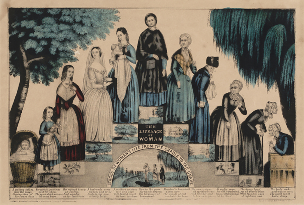 "The Life & Age of Woman, c. 1849. Smithsonian National Museum of American History, Harry T. Peters ""America on Stone"" Lithography Collection."
