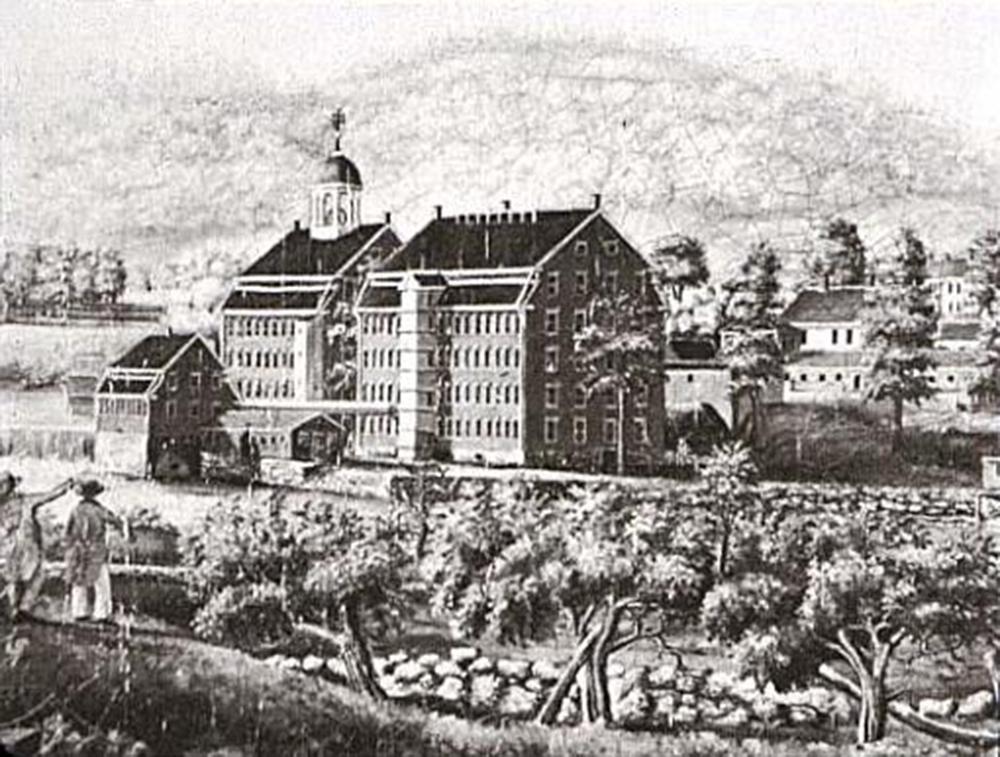 Boston Manufacturing Company, Waltham, MA, c. 1813–16. Engraving by Elijah Smith.