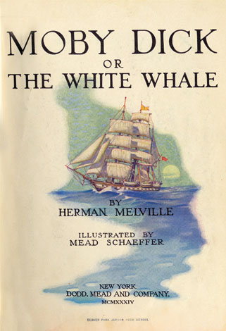 cover art for Moby Dick