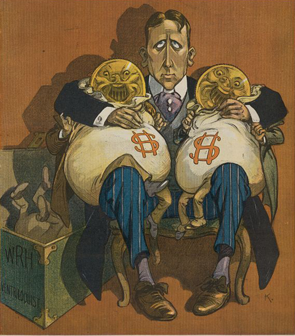 """""""Money Talks,"""" by Udo J. Keppler, from Puck, 1906. Library of Congress, Prints and Photographs Division."""
