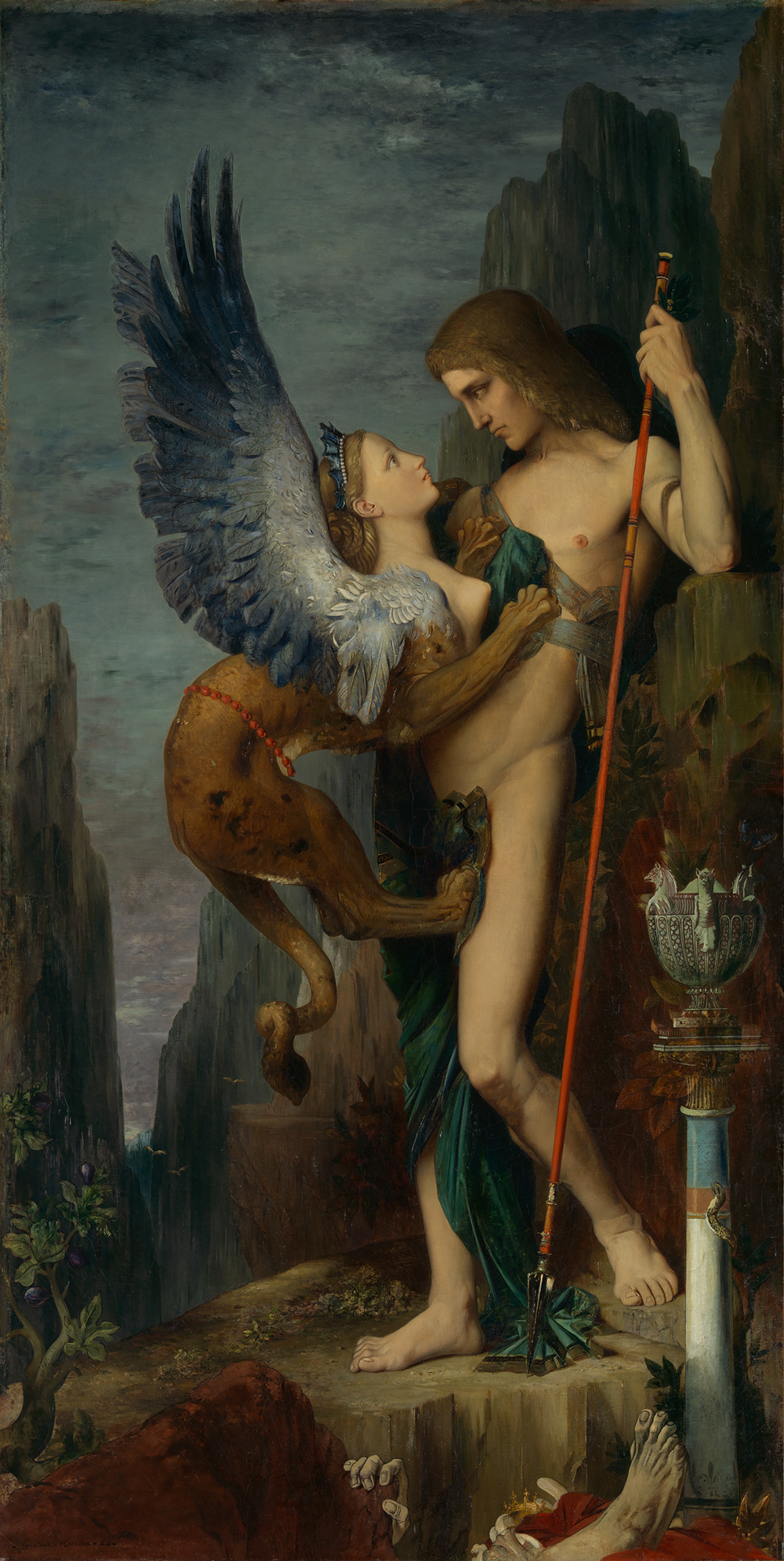 """""""Oedipus and the Sphinx,"""" by Gustave Moreau, 1864. The Metroplitan Museum of Art, Bequest of William H. Herriman, 1920."""