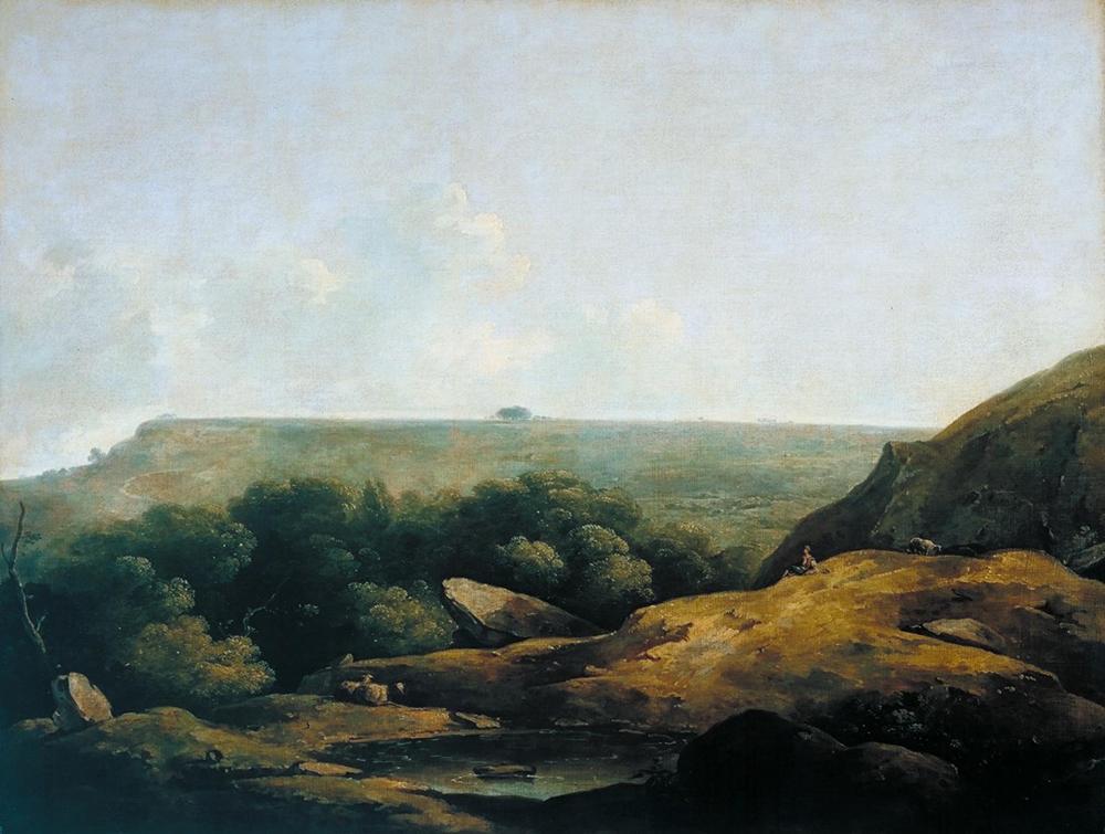 Landscape, near Bath, by Thomas Barker of Bath, c. 1798.