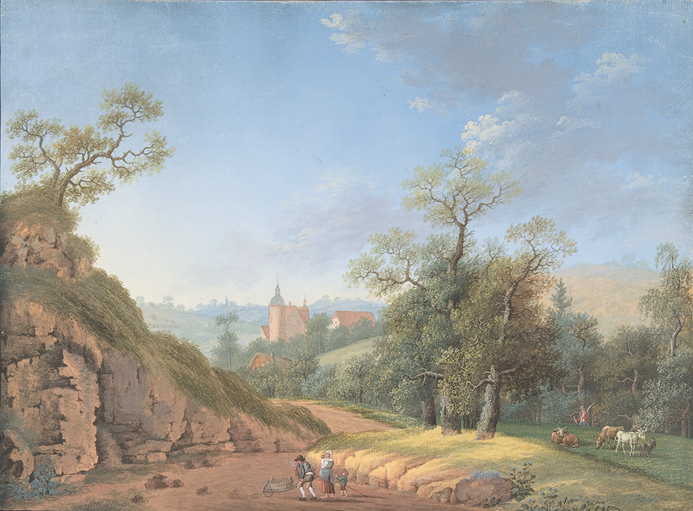 """Peasant Family in a Landscape,"" by Johann Friedrich Nagel, late eighteenth to nineteenth century. The Metropolitan Museum of Art, Purchase, Guy Wildenstein Gift, 2007."