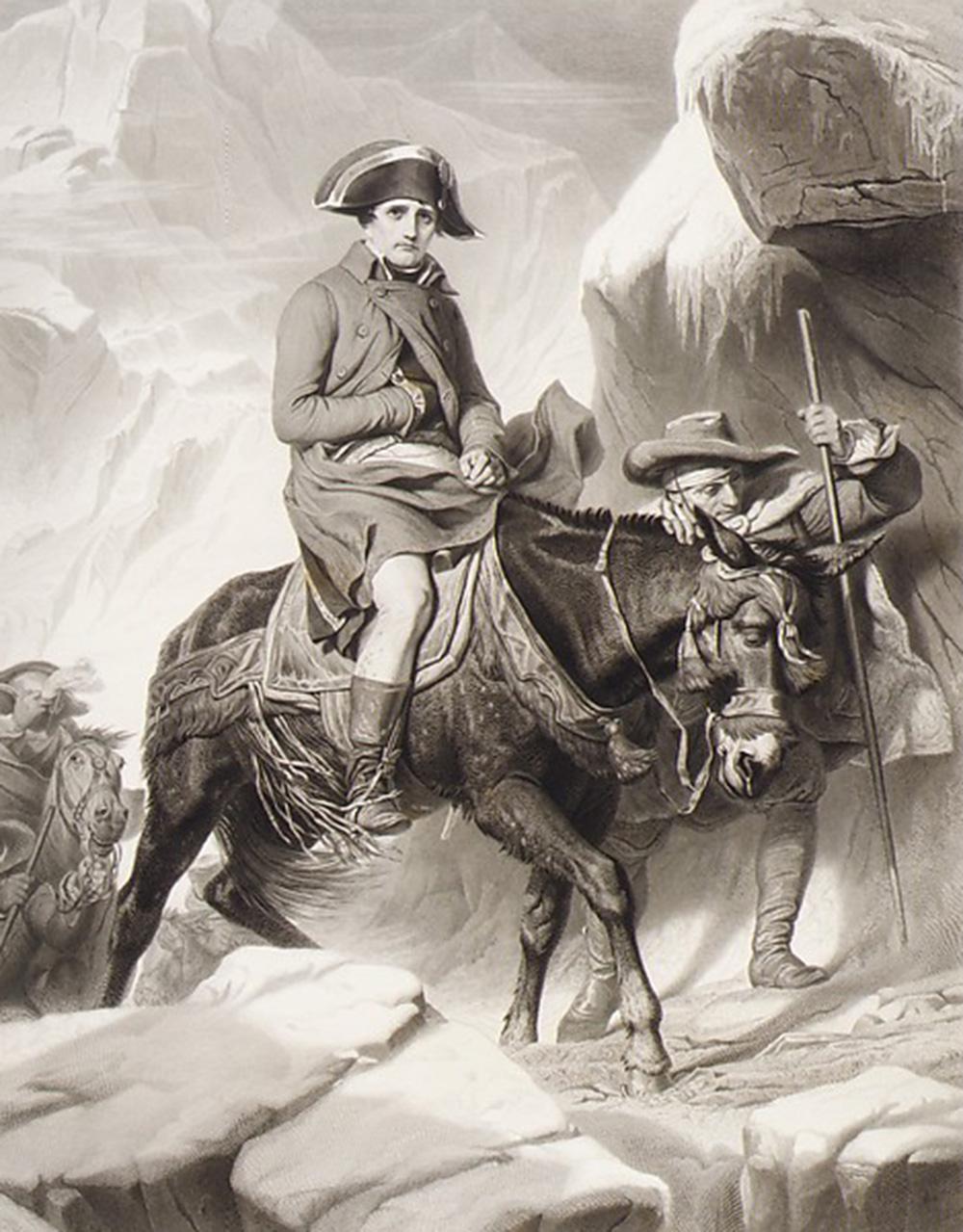 Napoleon Crossing the Alps, by Alphonse François, 1851. The Metropolitan Museum of Art, The Elisha Whittelsey Collection, The Elisha Whittelsey Fund, 1949.