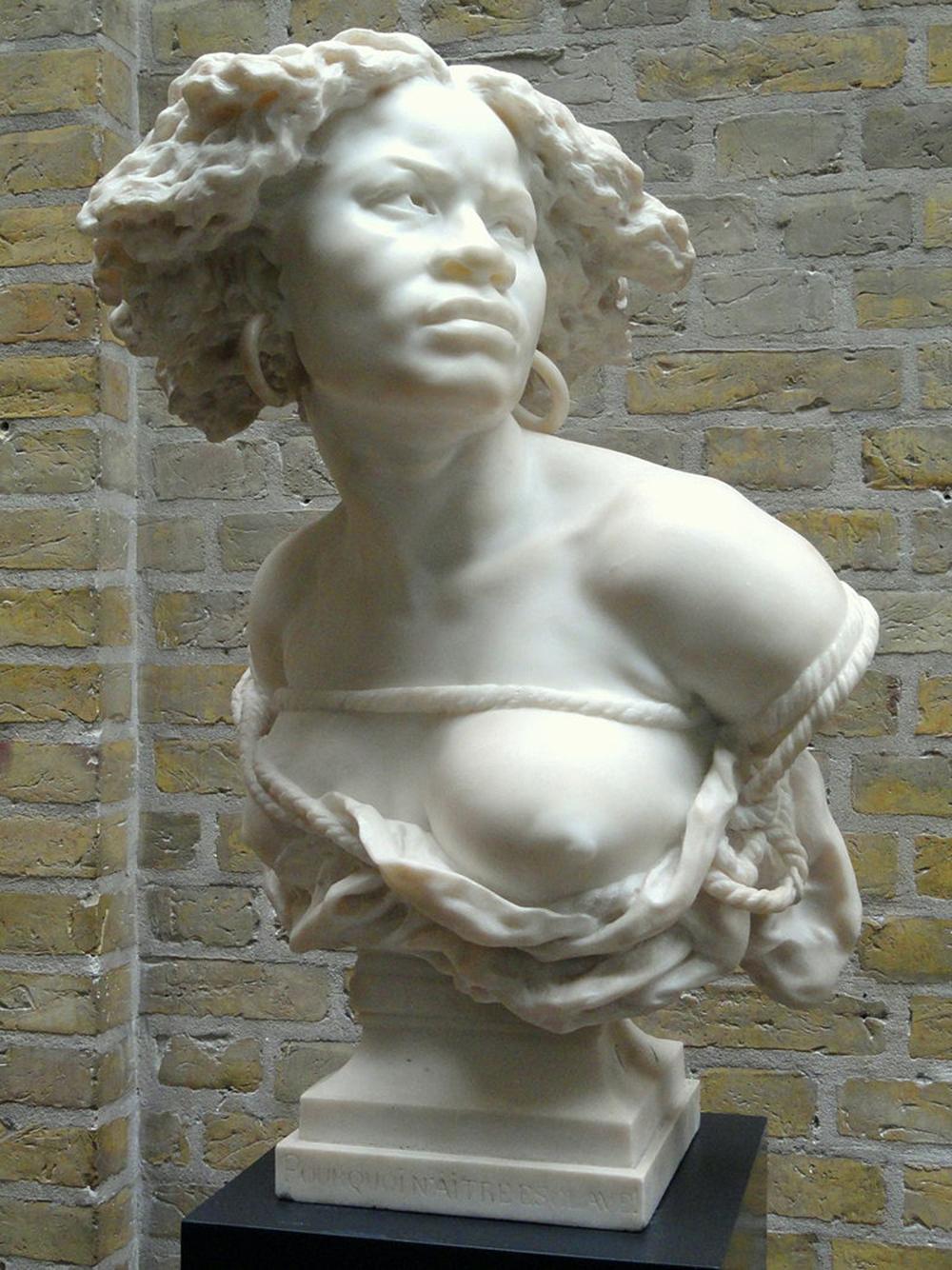 Why Born Enslaved!, by Jean-Baptiste Carpeaux. Wikimedia Commons, Ny Carlsberg Glyptotek.