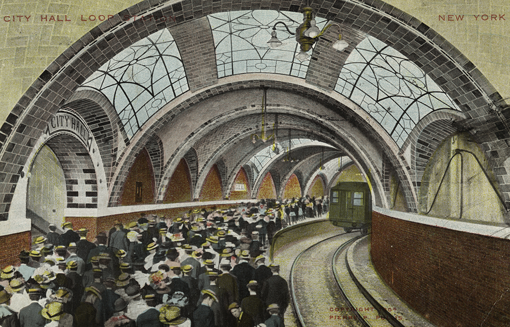 City Hall Station, Manhattan, 1904. The New York Public Library, The Miriam and Ira D. Wallach Division of Art, Prints and Photographs.