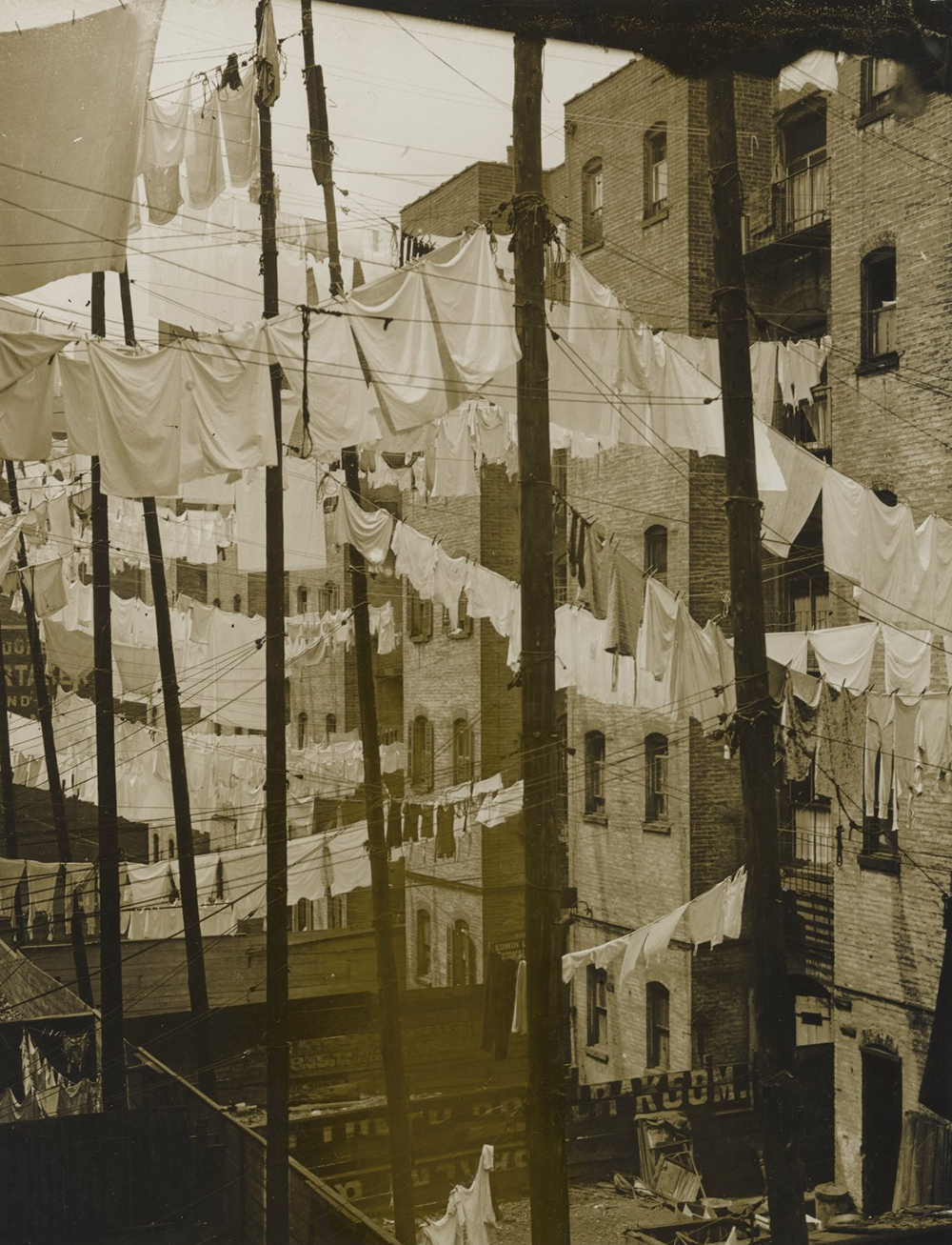 Tenements, New York, by Consuelo Kanaga, c. 1930. Brooklyn Museum, Gift of Wallace B. Putnam from the Estate of Consuelo Kanaga.