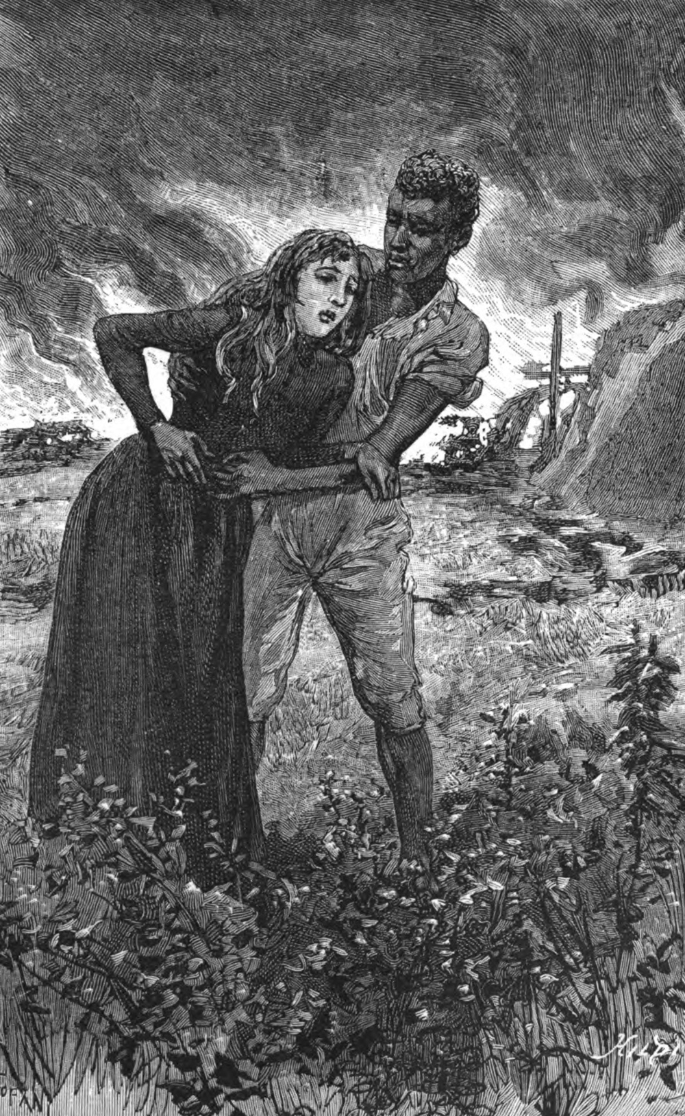 Illustration from Thérèse à Saint-Domingue, by Armand Fresneau, 1888.