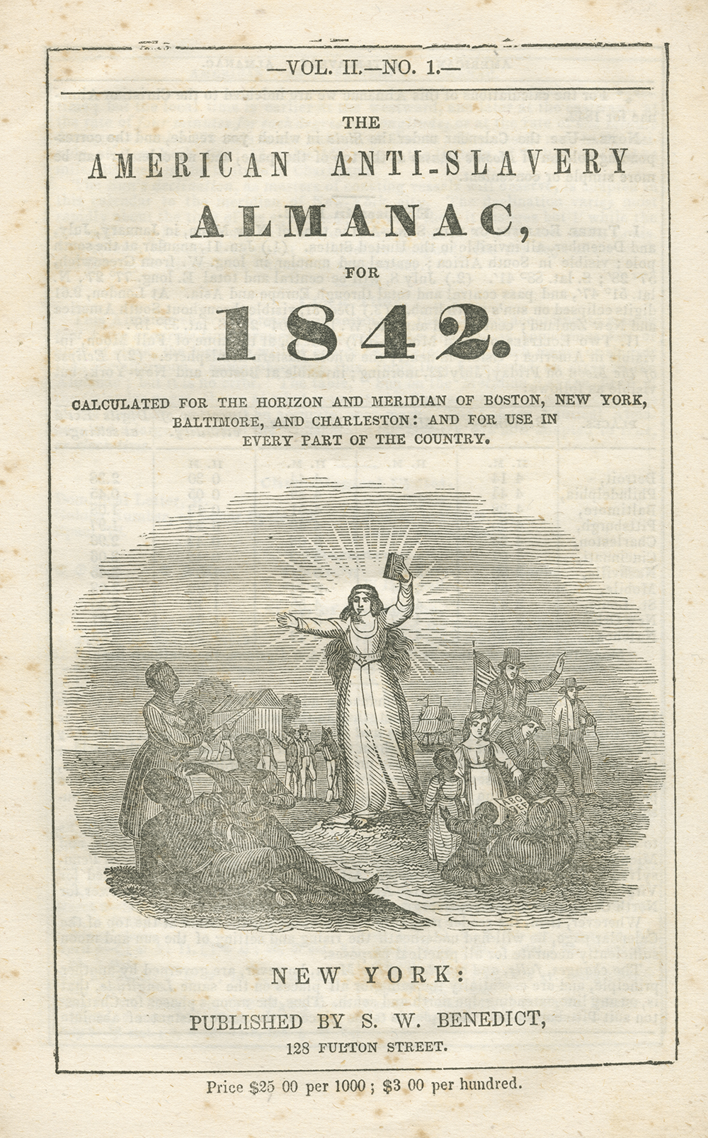 Cover of The American Anti-Slavery Almanac for 1842.