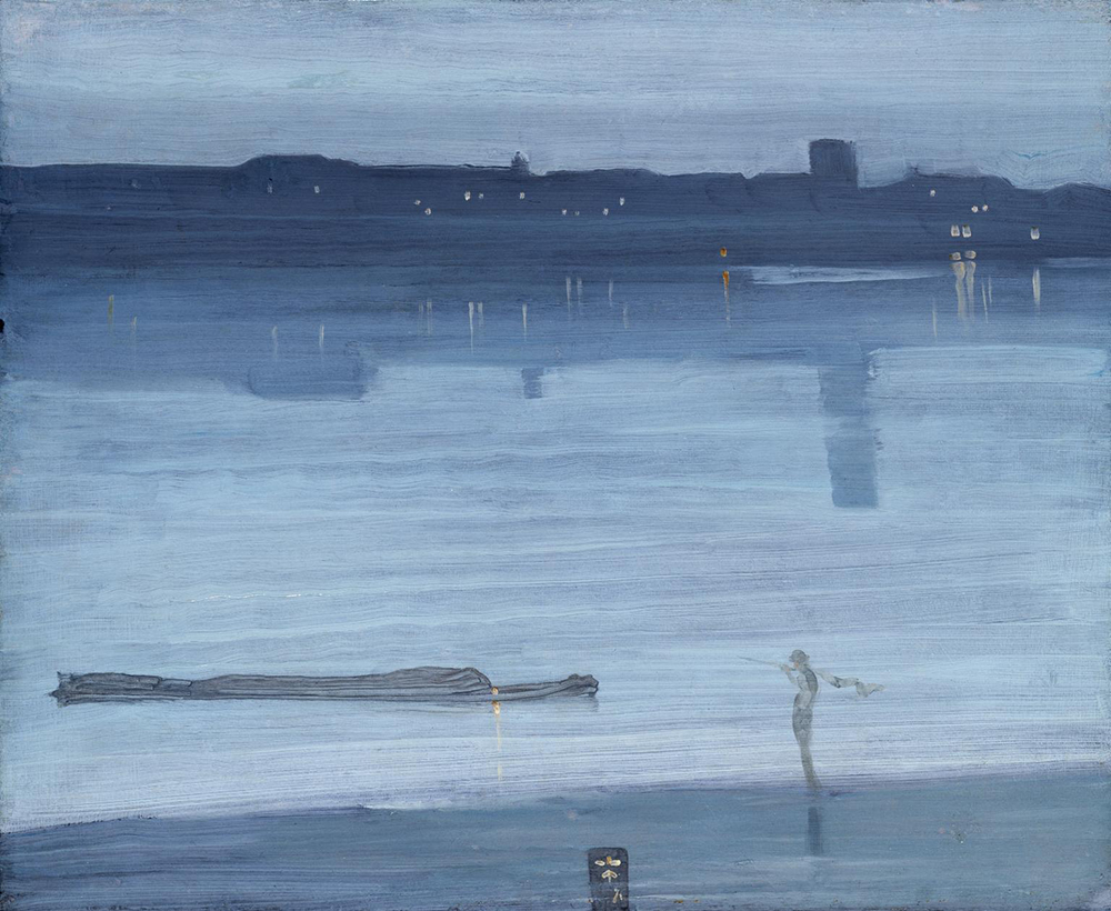 Nocturne: Blue and Silver—Chelsea, by James Abbott McNeill Whistler, 1871. Photograph © Tate (CC-BY-NC-ND 3.0).
