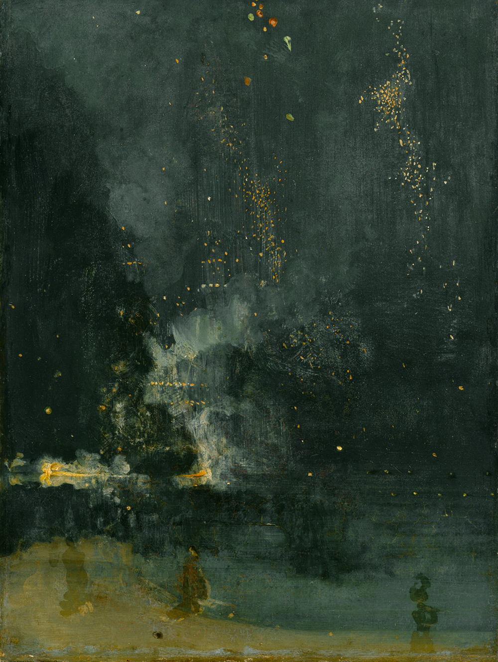 Nocturne in Black and Gold, the Falling Rocket, by James Abbott McNeill Whistler, 1875. Detroit Institute of Arts, Gift of Dexter M. Ferry, Jr.