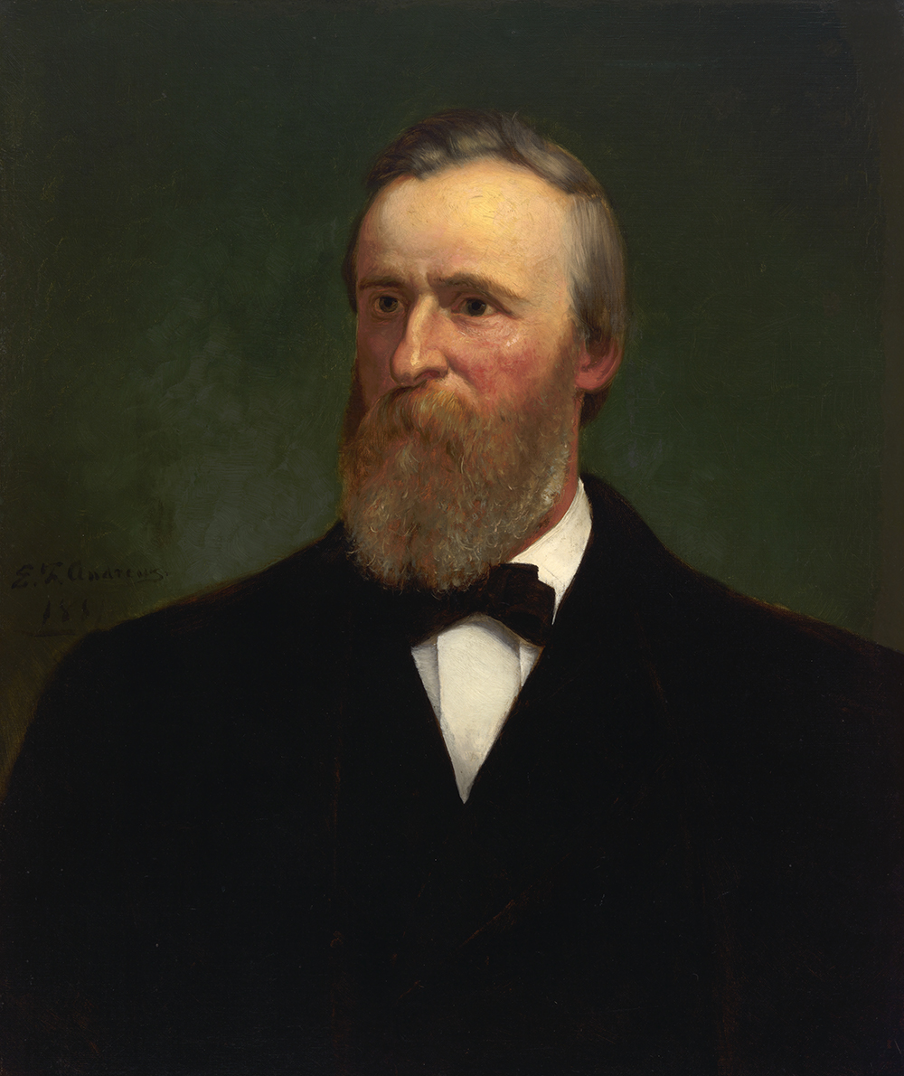 Rutherford B. Hayes, by Eliphalet Frazer Andrews, 1881.