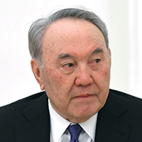 Color photograph of Nursultan Nazarbayev