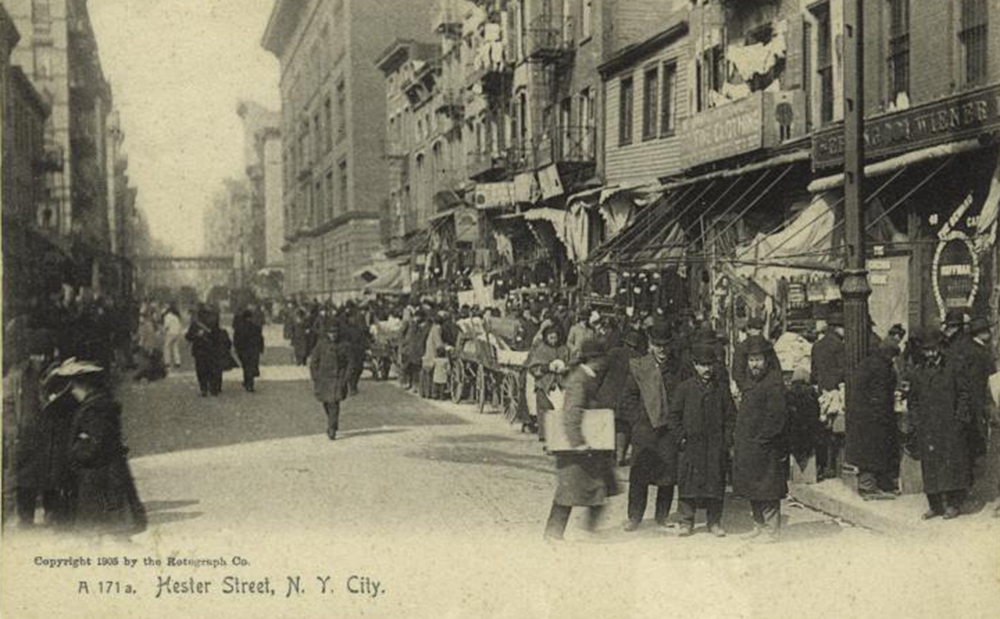 Hester Street, c. 1905. Postcard by Rotograph Co. New York Public Library, Art and Picture Collection.