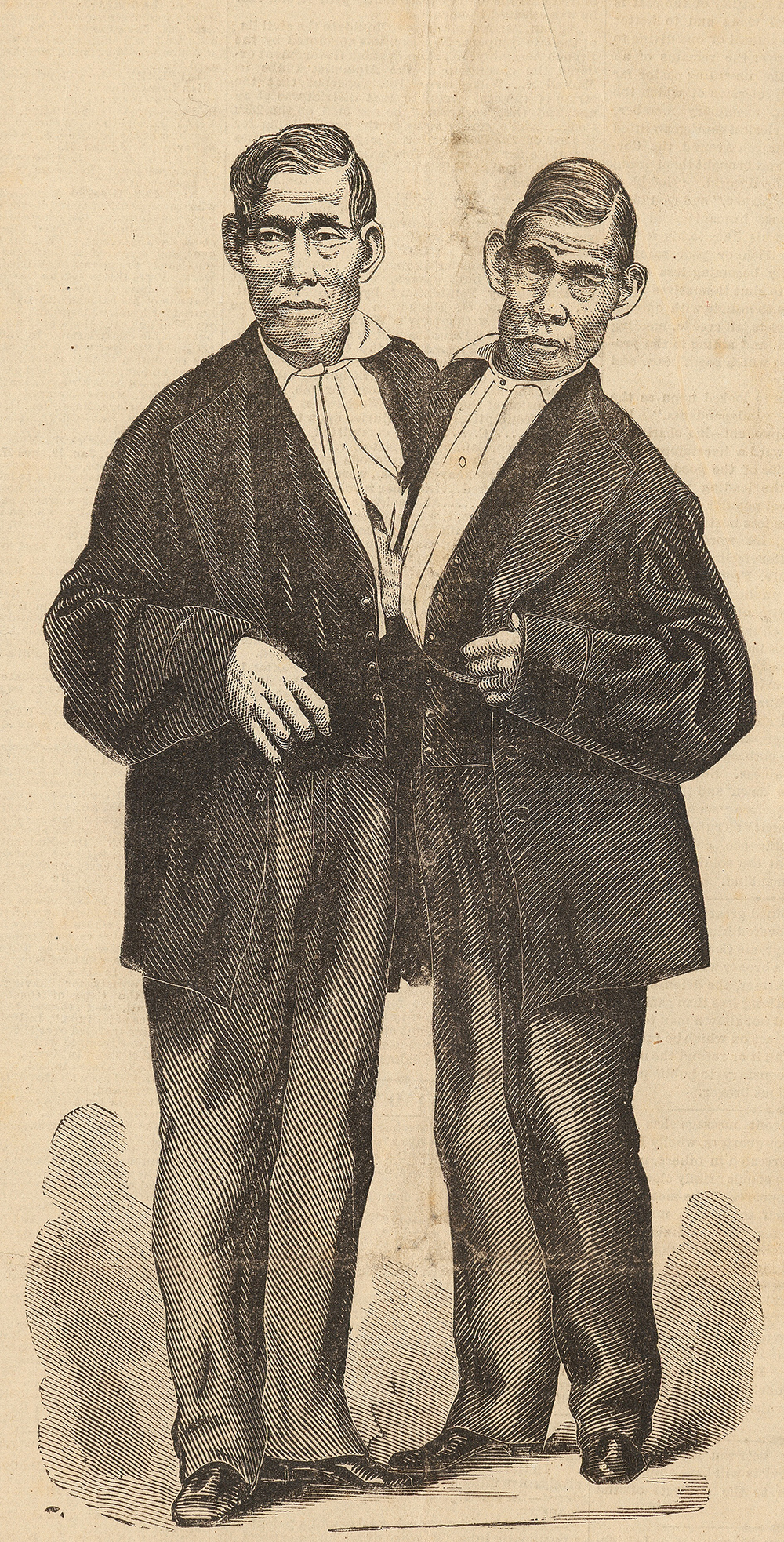 """The Siamese Twins—Eng and Chang,"" 1874. The New York Public Library, Billy Rose Theatre Division."