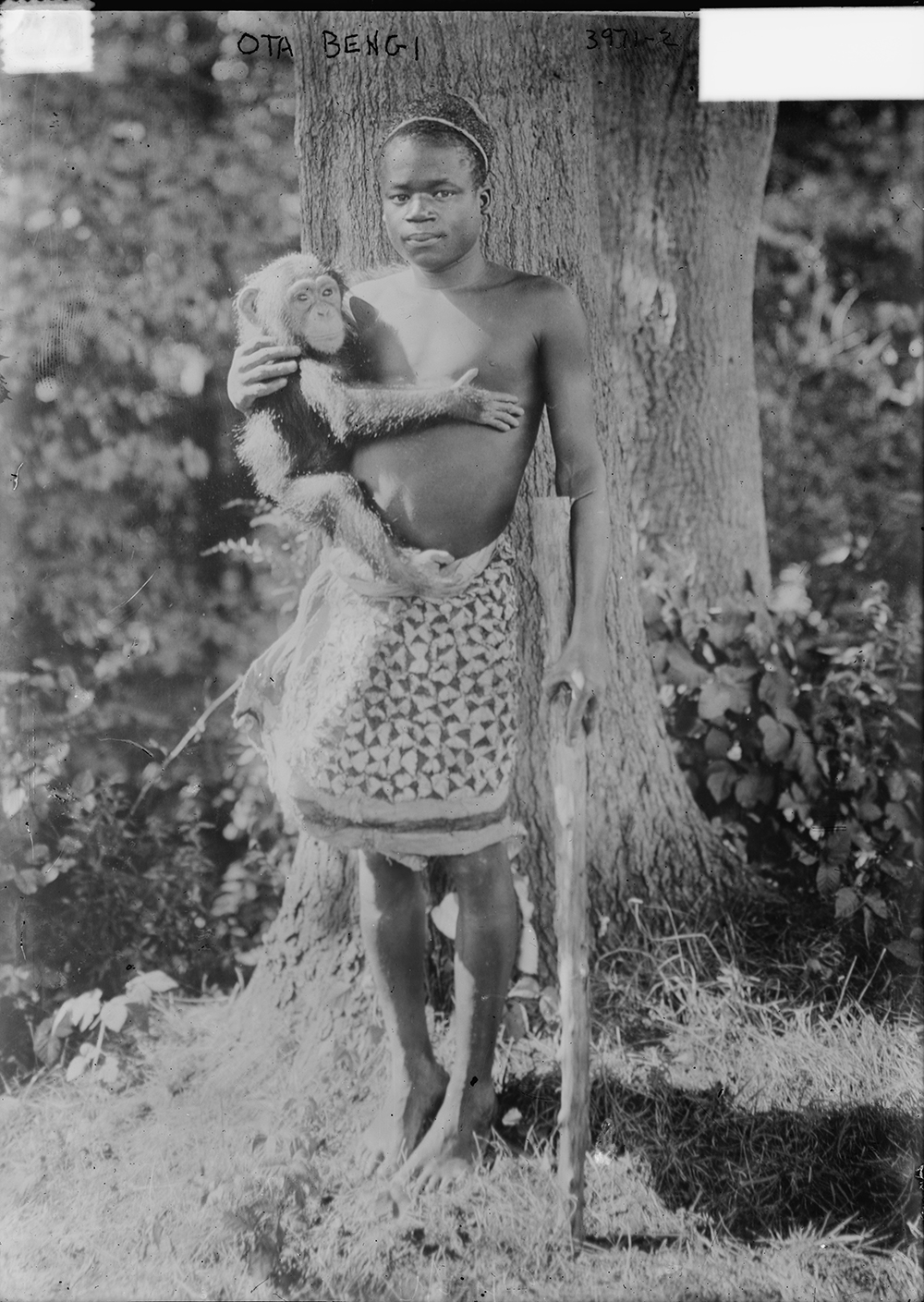 Ota Benga, c. 1915. Photograph by Bain News Service. Library of Congress, Prints and Photographs Division.