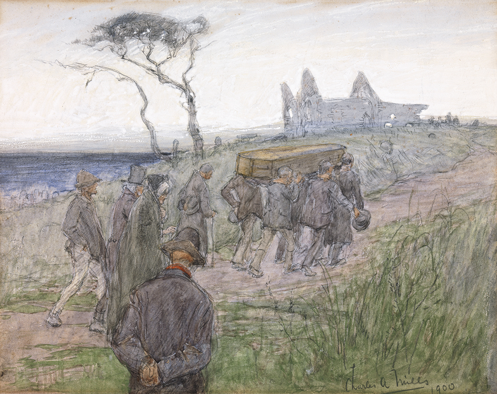 A Funeral Procession, by Charles Alfred Mills, 1900.