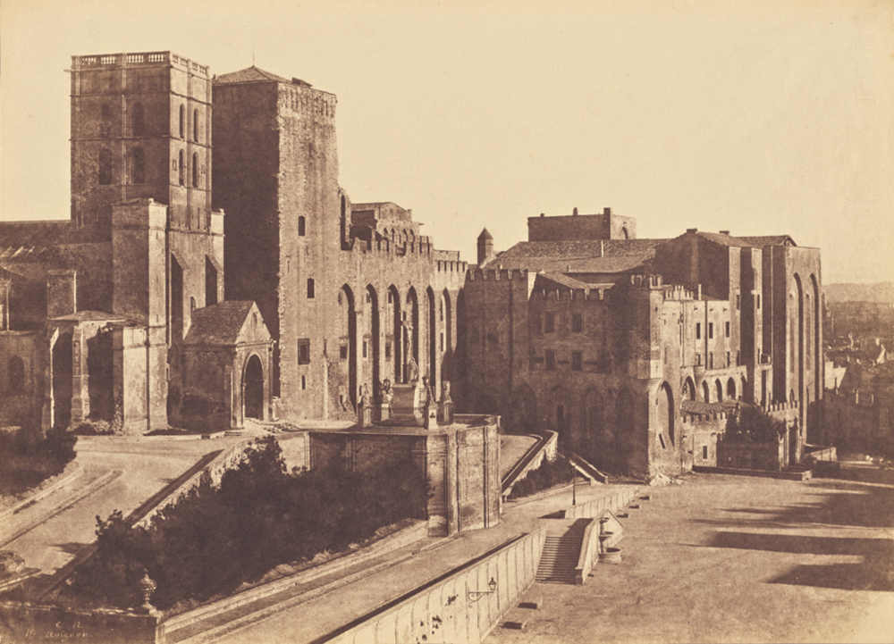 Papal Palace, Avignon, 1852. Photograph by Charles Nègre. The J. Paul Getty Museum, Los Angeles. Digital image courtesy of the Getty's Open Content Program.