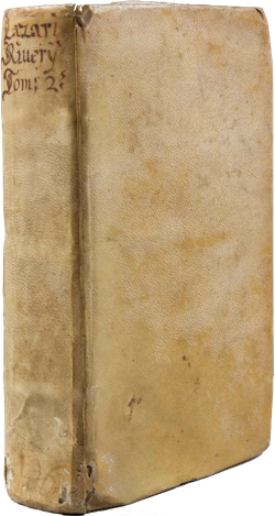 A book bound in parchment