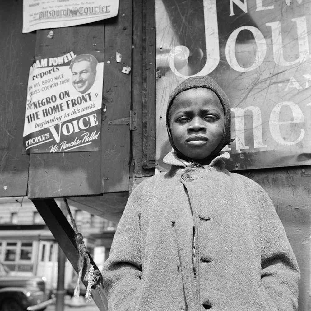 A Harlem newsboy, New York City, 1943. Photograph by Gordon Parks,. Library of Congress, Prints and Photographs Division.