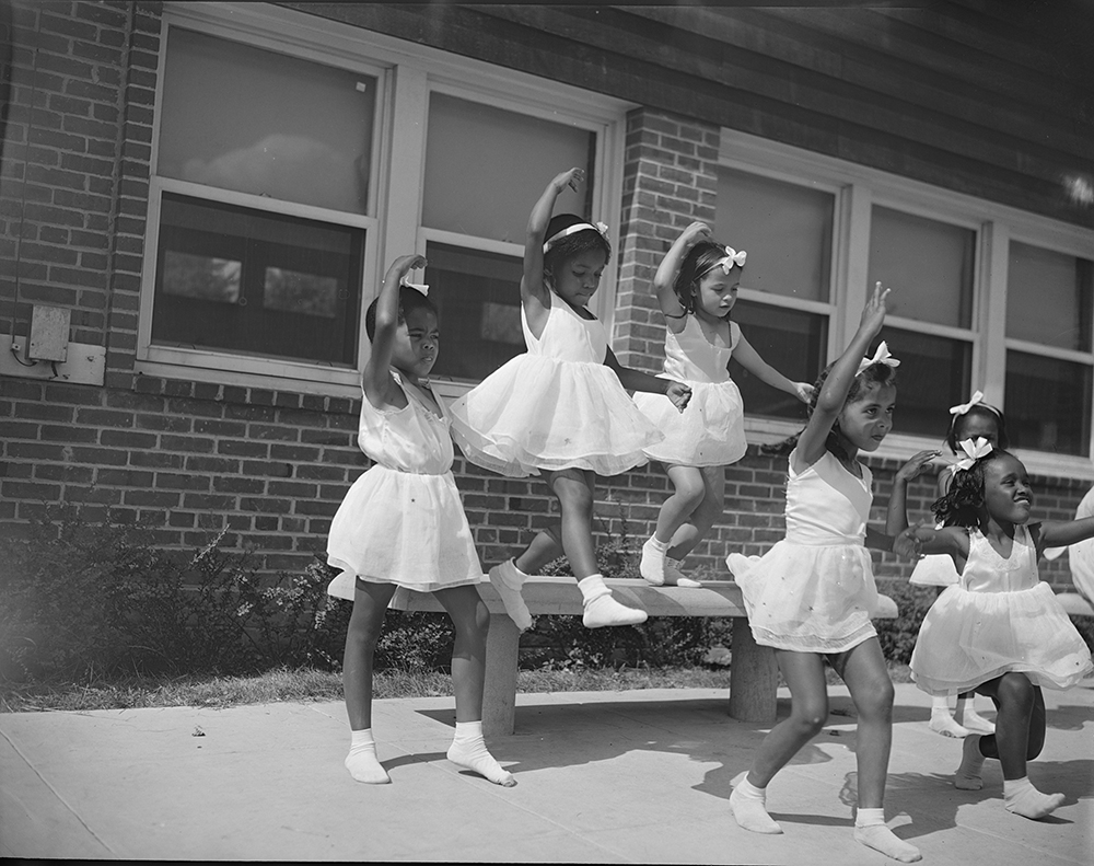 Dance group, Frederick Douglass Housing Project, Washington, DC, 1942. Photograph by Gordon Parks. Library of Congress, Prints and Photographs Division.