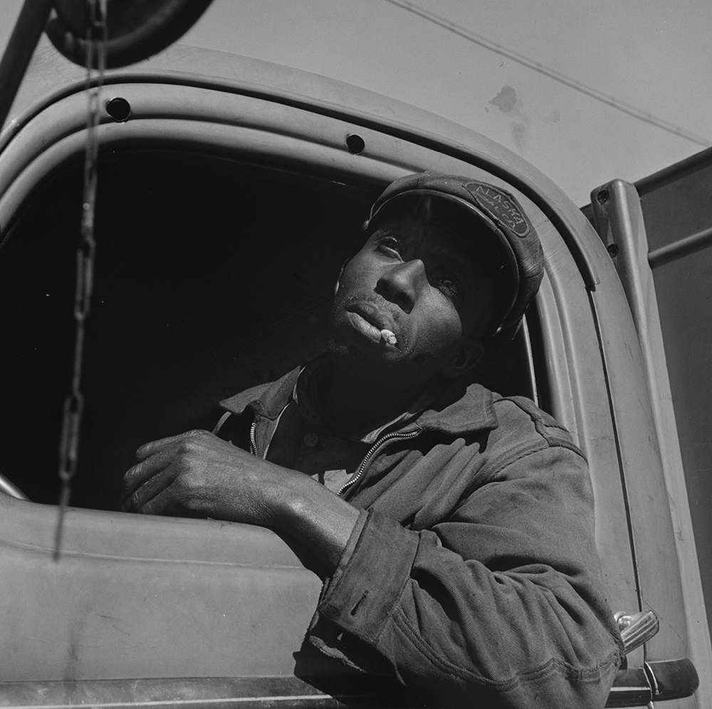 Truck driver for the Alaska Coal Company, Washington, DC, 1942. Photograph by Gordon Parks. Library of Congress, Prints and Photographs Division.