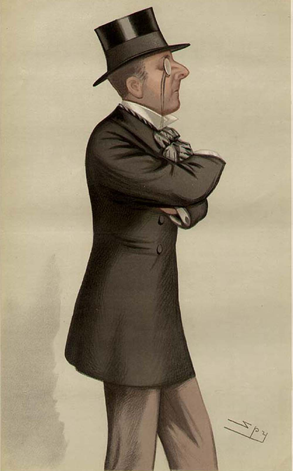"Caricature of Percy Windham, from ""Vanity Fair,"" 1880."