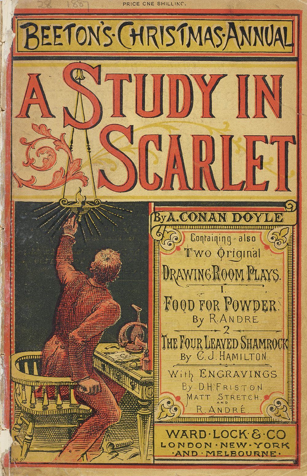 A Study in Scarlet in Beeton's Christmas Annual, 1887. Oxford University, Bodleian Library.