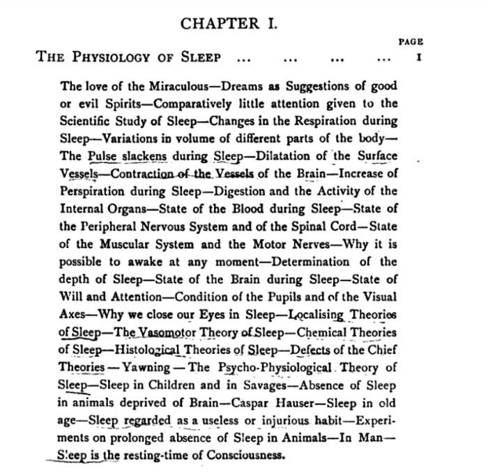 """Sleep: Its Physiology, Pathology, Hygiene, and Psychology,"" by 1897. HathiTrust Digital Library, Harvard University."