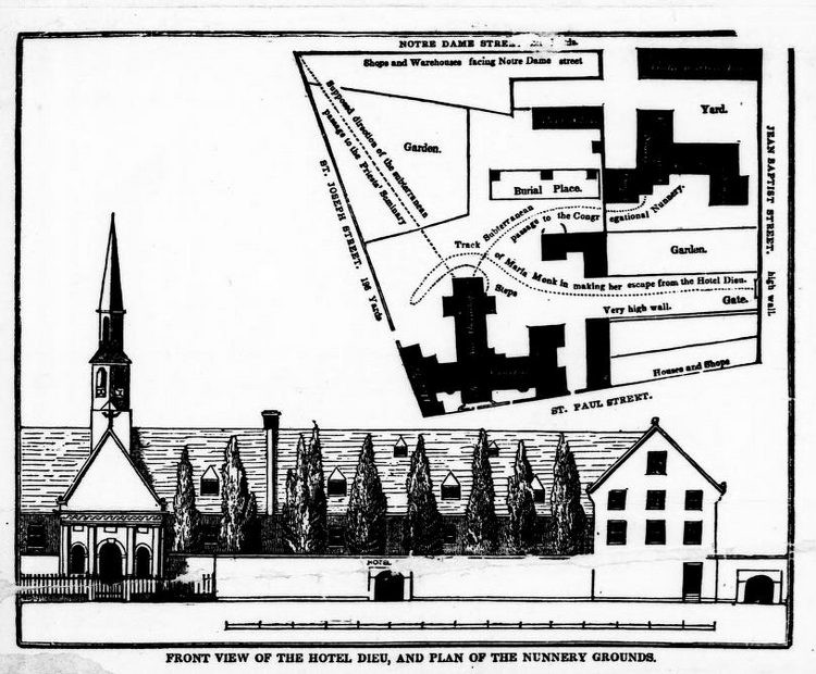 A plan of the Hotel Dieu.