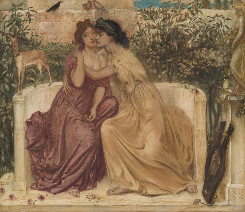 Sappho and Erinna in a Garden at Mytilene, by Simeon Solomon, 1864. Photograph © Tate (CC-BY-NC-ND 3.0).