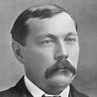 A photograph of Arthur Conan Doyle