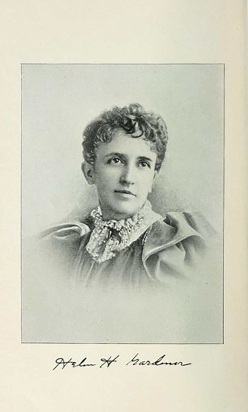 Frontispiece of Pray You, Sir, Whose Daughter, by Helen Hamilton Gardener, c. 1892. Internet Archive, University of California Libraries.