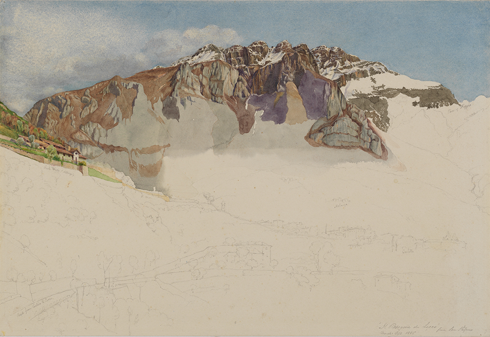 """Mountainous Landscape in Italy: Il Resegone,"" by Frank Randal, 1885. The Metropolitan Museum of Art, Robert Lehman Collection, 1975."