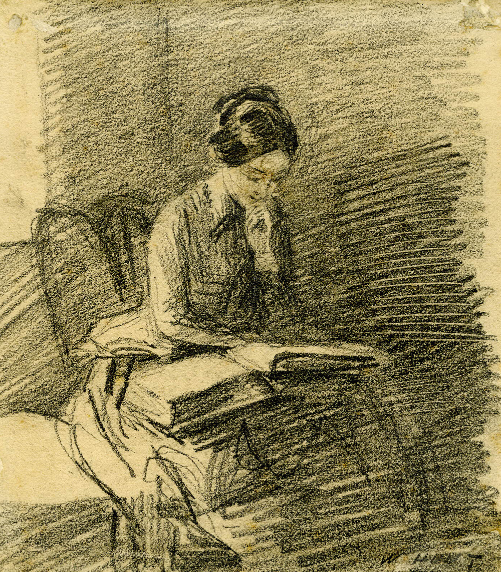 Portrait of Maria Hunt reading, by William Henry Hunt. British Museum.