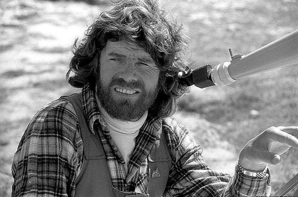 Photograph of Reinhold Messner, Pamirs, 1985, by Jaan Künnap.