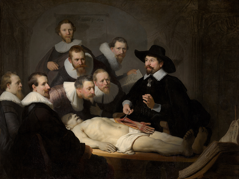 The Anatomy Lesson of Dr. Nicolaes Tulp, by Rembrandt van Rijn, 1632.