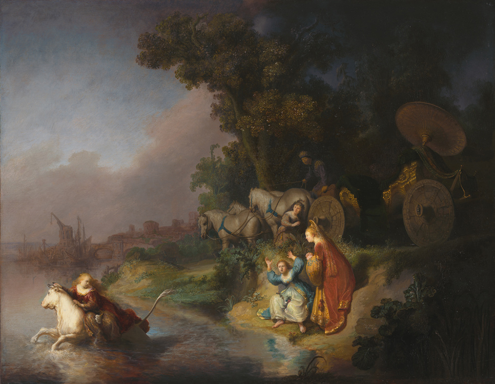 The Abduction of Europa, painting by Rembrandt van Rijn, 1632. The J. Paul Getty Museum, digital image courtesy of the Getty's Open Content Program.