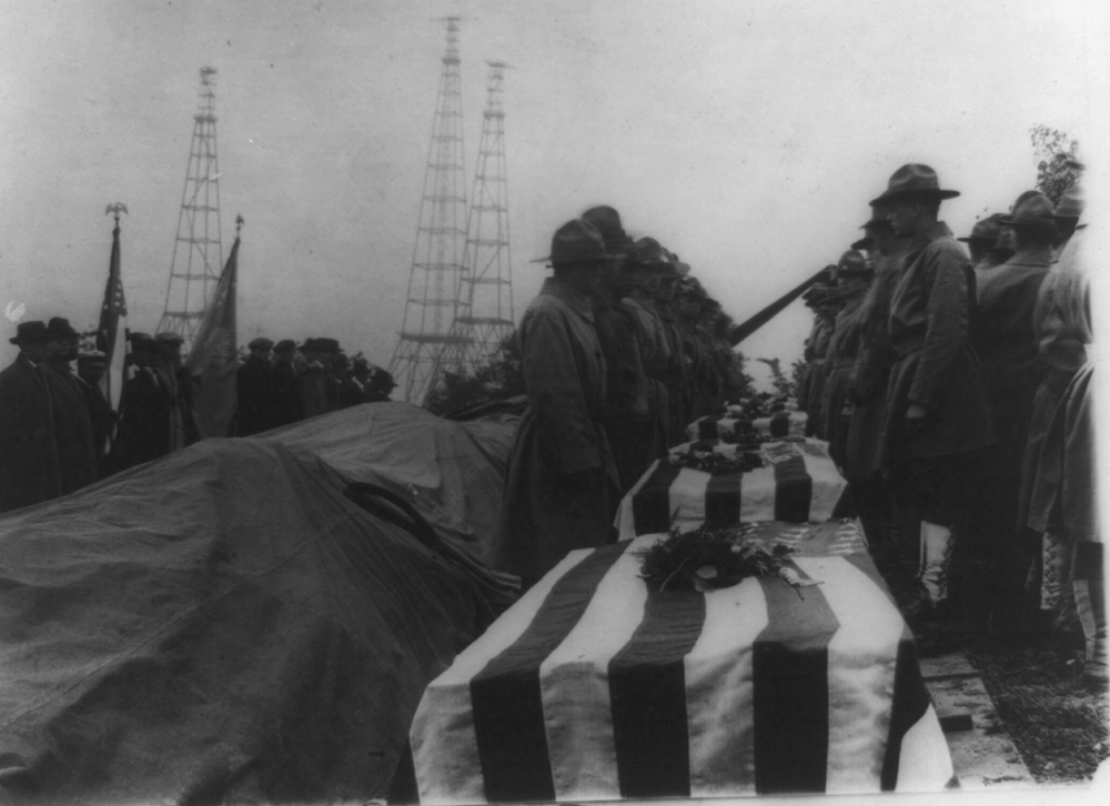 Scene at Arlington National Cemetery at the burial of returned bodies of the A.E.F. from France, c. 1918. Library of Congress, Prints and Photographs Division.