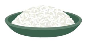 A cartoon bowl of rice.