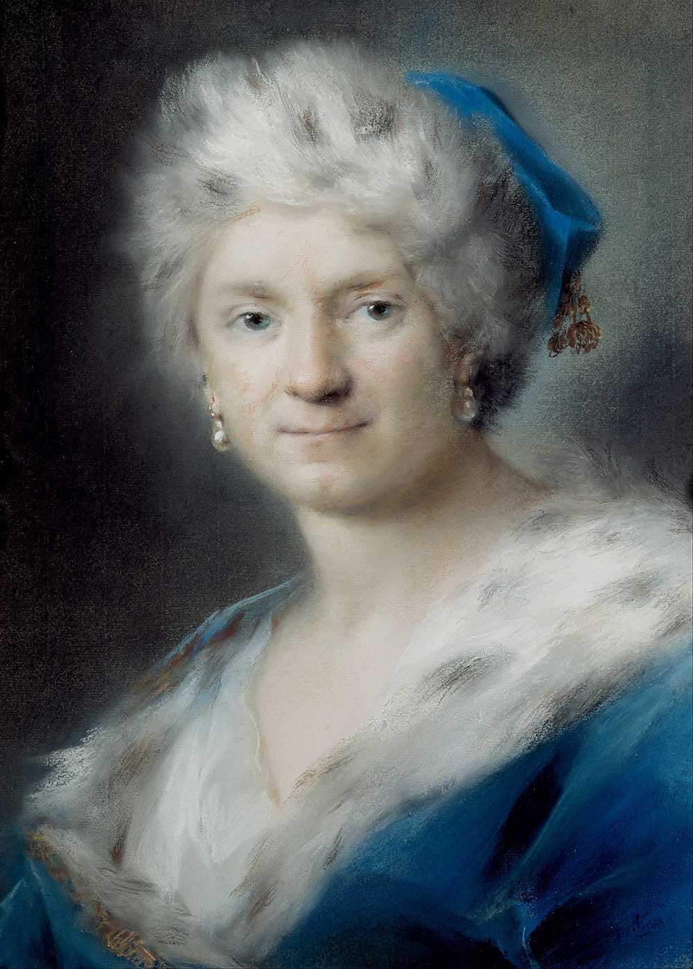 """Self-Portrait as """"Winter"""", by Rosalba Carriera, 1731."""