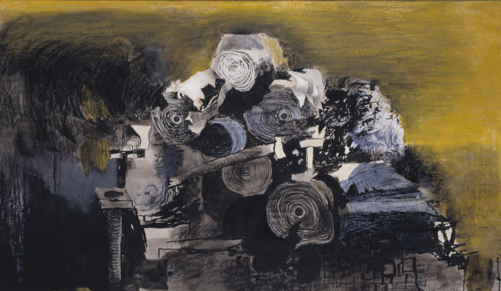 Devastation, 1941: East End, Burnt Paper Warehouse, by Graham Sutherland, 1941. Photograph © Tate  (CC-BY-NC-ND 3.0).