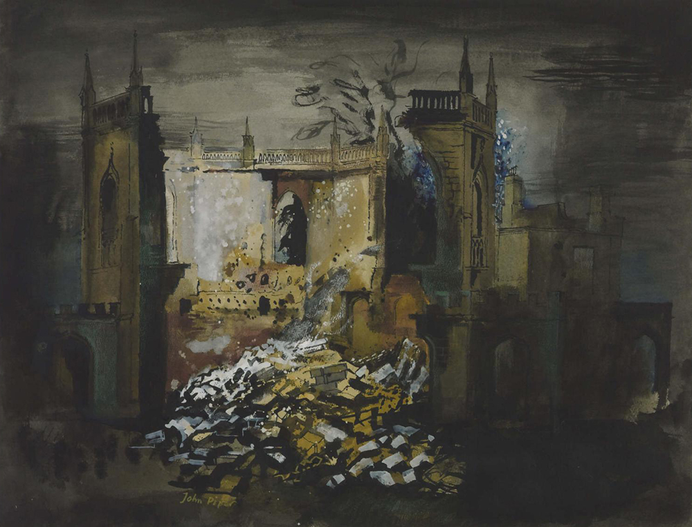 All Saints Chapel, Bath, by John Piper, 1942. Photograph © Tate (CC-BY-NC-ND 3.0).