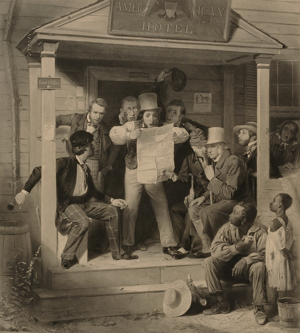 Mexican News, by Alfred Jones, after Richard Caton Woodville, 1851.