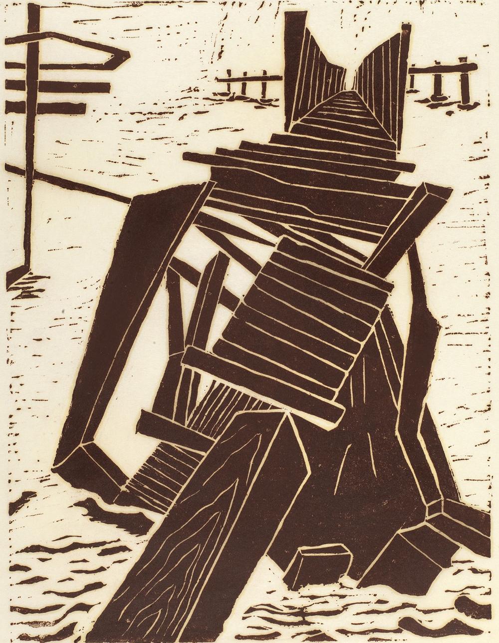 Hurricane's End, by Frank McClure, twentieth century.