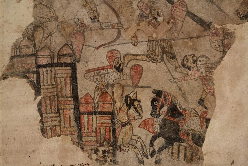 A battle, c. 1200. The British Museum.