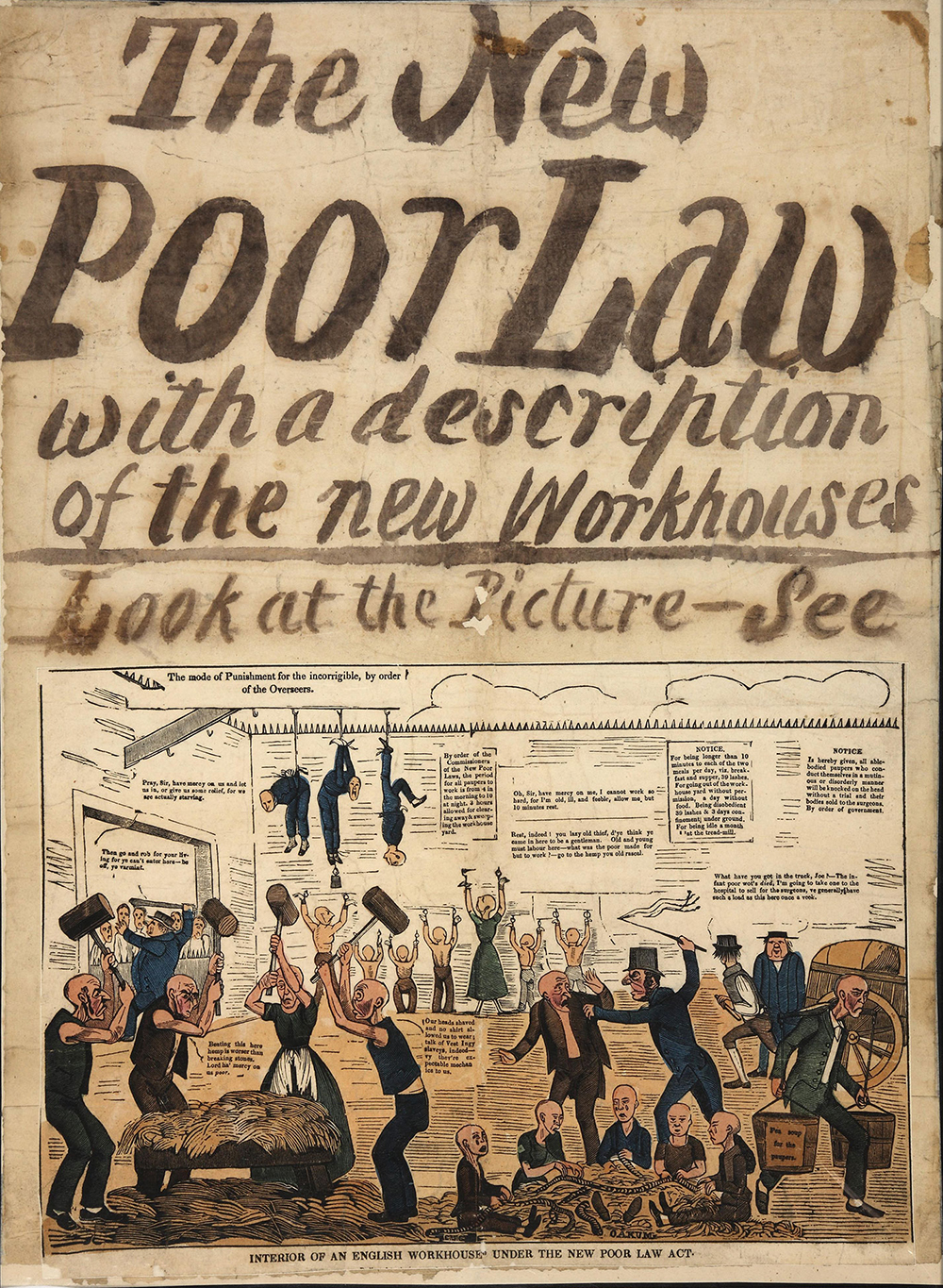 Poster responding to the New Poor Law, c. 1834. © National Archives, London.