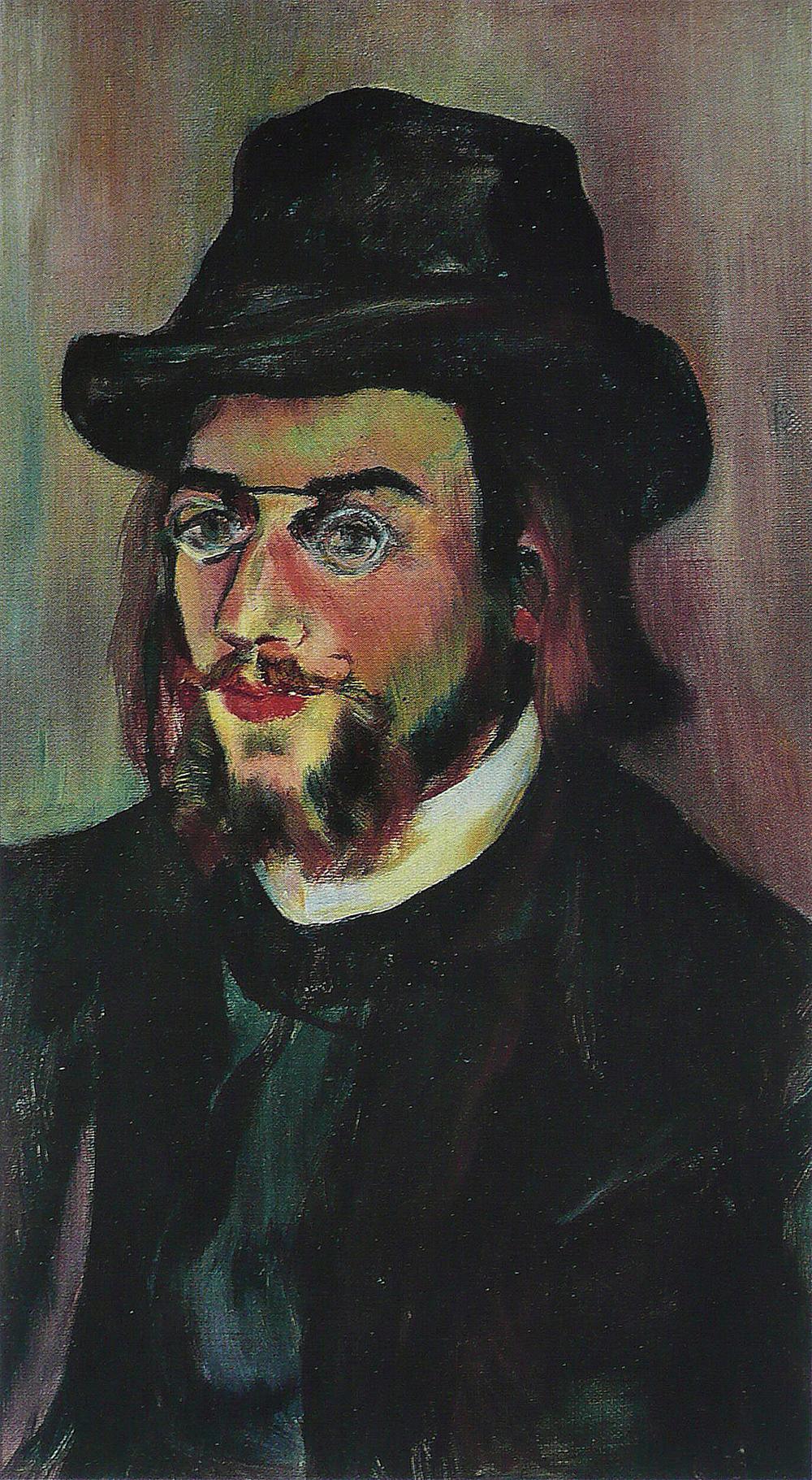"""""""Portrait of Erik Satie,"""" by Suzanne Valadon, 1893. Musée National d'Art Moderne, Paris."""
